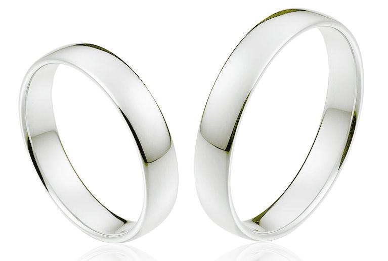 Platina trouwringen met korting