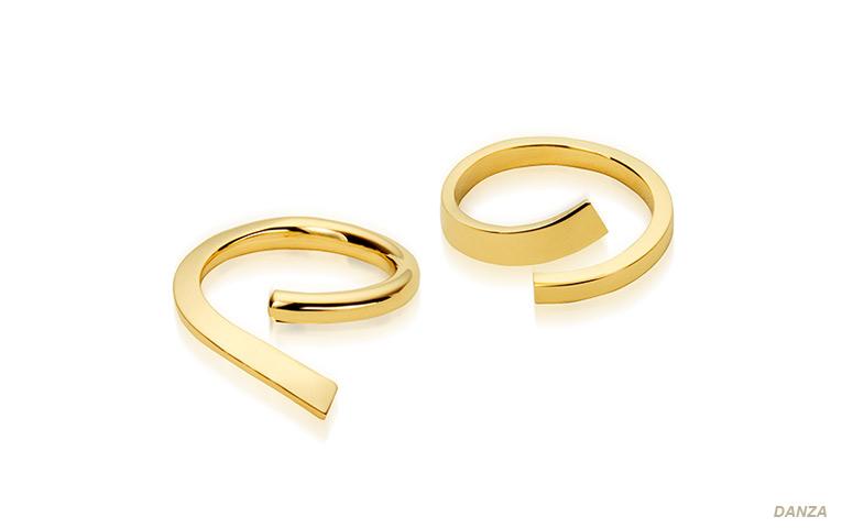 sierlijke aparte trouwringen gemaakt van goud