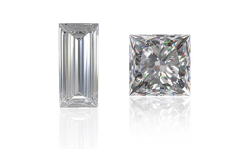 Princess en baguette diamant
