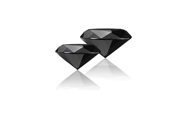 zwarte briljanten carbonado diamant