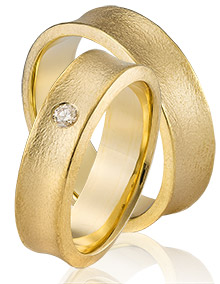 18 krt gouden ringen organische model