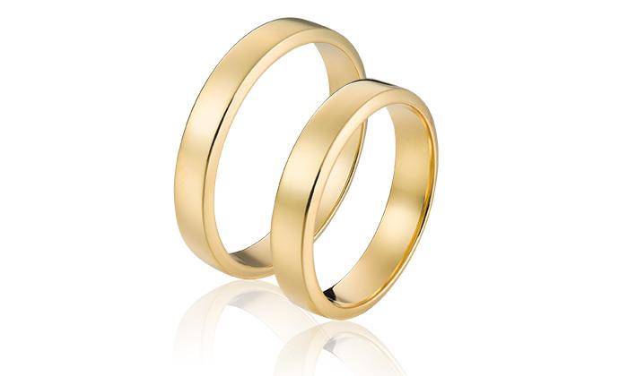 Betaalbare trouwringen in 14 krt goud