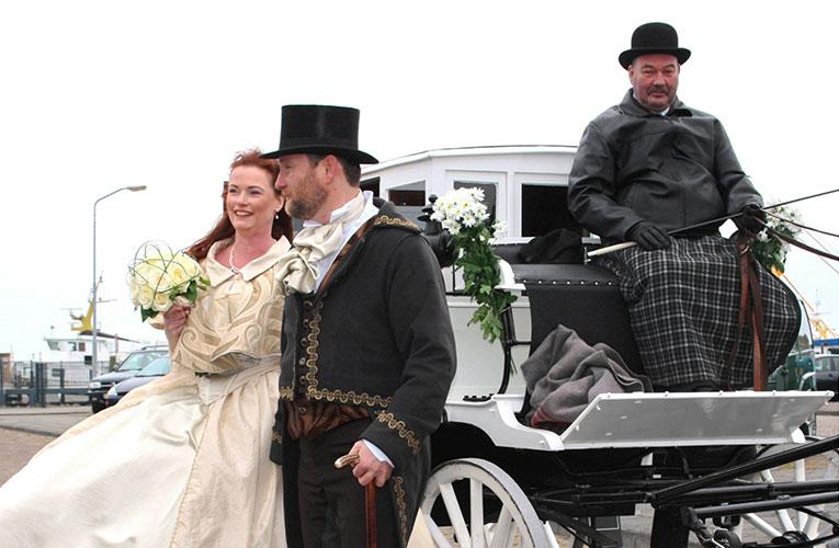 Bruidspaar op Terschelling