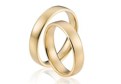 Fairtrade gouden trouwringen in klassieke stijl
