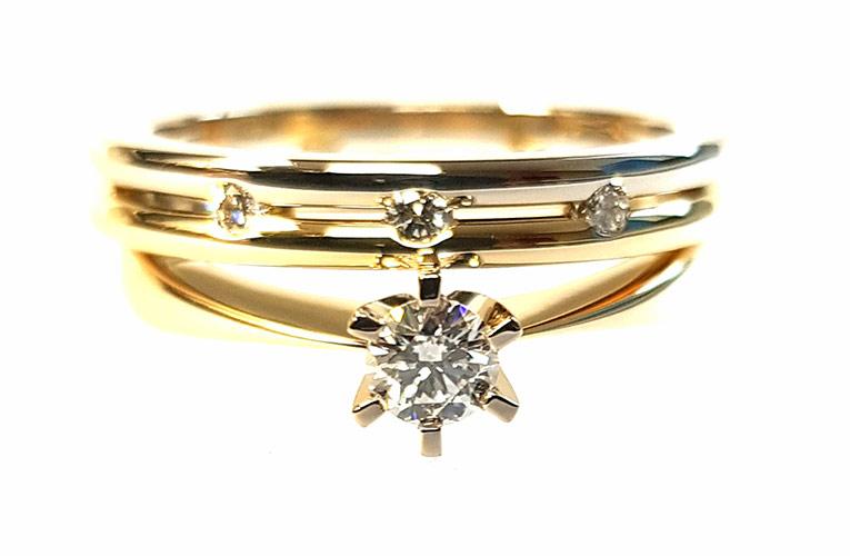 Verlovingsring en Trouwringen samen als combinatie