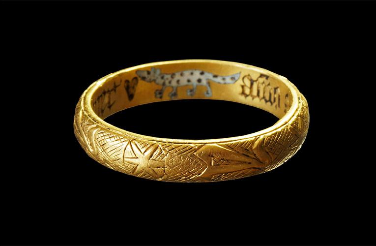 oude trouwring gevonden in Utrecht door Alexander van de Bunt
