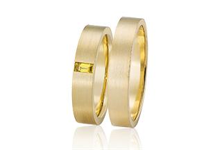 gouden trouwringen gele saffier
