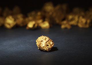 klompje puur goud van 12 gram