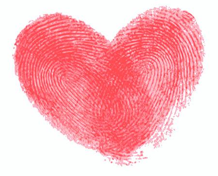 Hartvorm vingerafdruk