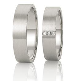 Witgouden trouwringen betaalbaar met diamant