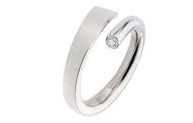 witgouden trouwringen met diamant