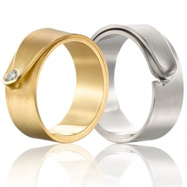 Originele ringen met origami look