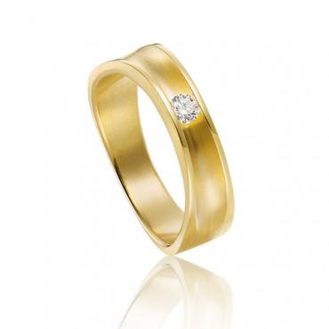 trouwring van goud met diamant