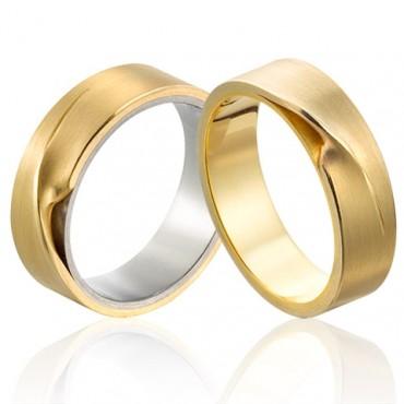 trouwringen in goud en witgoud